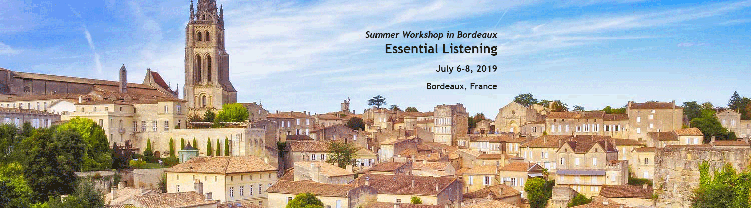 Essential Listening Workshop in Bordeaux, France